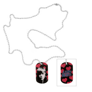 Justin Bieber Heart Pattern Dog Tag