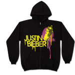 Justin Bieber Black Spray Paint Hoodie