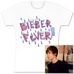 Pre-Order Justin Bieber My World CD and Bieber Fever Girls Tee