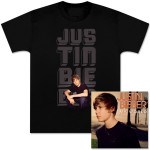 Pre-Order Justin Bieber My World CD and Glow Photo Tee