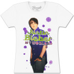Justin Bieber Splatter Ladies T-Shirt